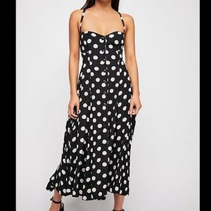 NWT Free People The One Dot Midi Dress Size XS